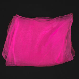 Hot Pink Chiffon Hair Scarf