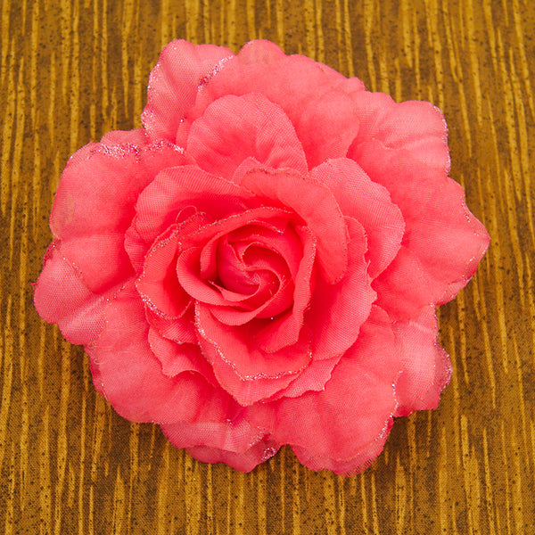 Hot Pink Rose Hair Clip Pin by Cats Like Us : Cats Like Us
