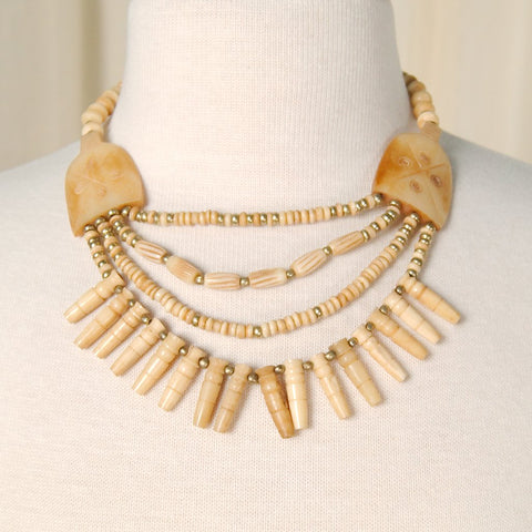 Important Bone Bead Necklace - Cats Like Us