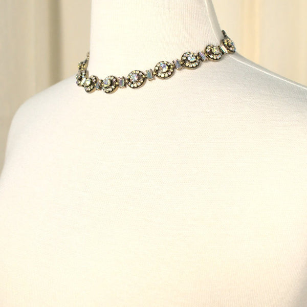 Iridescent Rhinestone Necklace