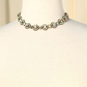 Iridescent Rhinestone Necklace - Cats Like Us