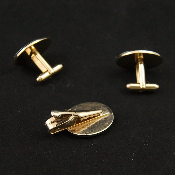 Knight Cufflinks & Tie Bar Set