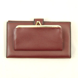 Large Brown Leather Wallet - Cats Like Us