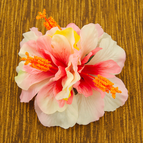 Large Pink Hibiscus Hair Flower - Cats Like Us