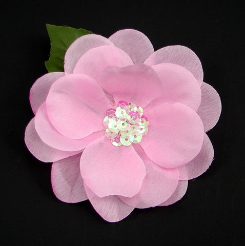 Light Pink Sequin Hair Flower - Cats Like Us