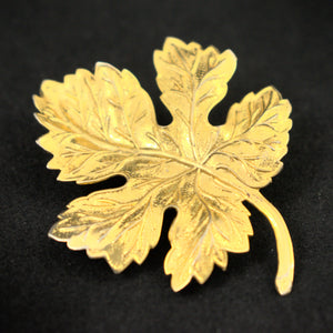 Lightweight Maple Leaf Brooch