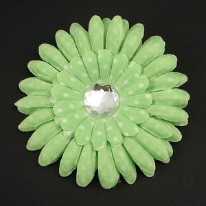 Lime Green Dot Daisy Flower by Cats Like Us : Cats Like Us