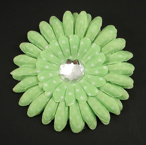 Lime Green Dot Daisy Flower - Cats Like Us