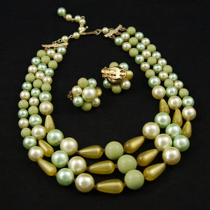 Lime Green Necklace Set