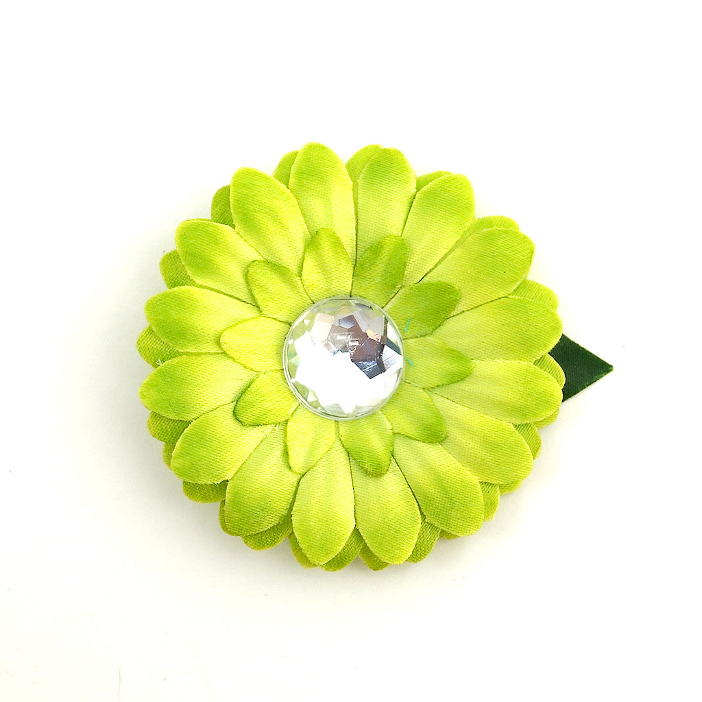 Lime Mini Bling Daisy Flower by Cats Like Us : Cats Like Us