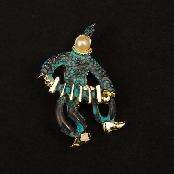 Little Accordion Jester Brooch by Cats Like Us : Cats Like Us