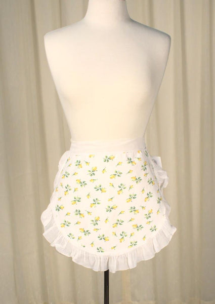 Little Yellow Roses Apron - Cats Like Us