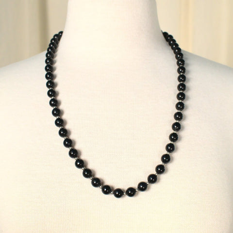 Long Black & Silver Necklace - Cats Like Us