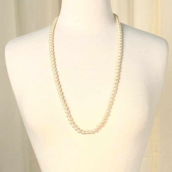 Long Faux Pearl Necklace