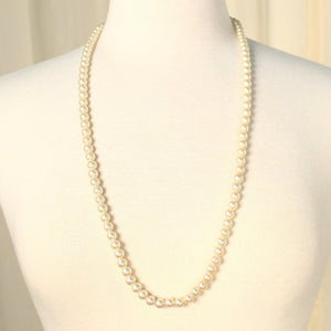 Long Faux Pearl Necklace - Cats Like Us