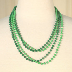 Long Green Bead Necklaces - Cats Like Us