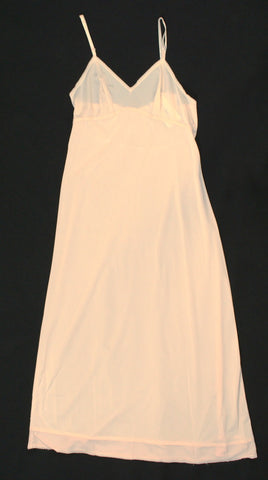 Long Light Peach Vintage Full Slip