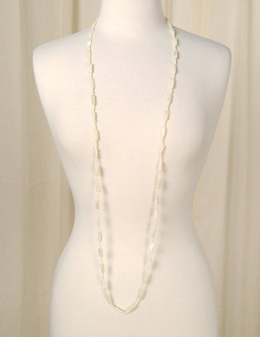 Long Pearl Shell Necklace - Cats Like Us