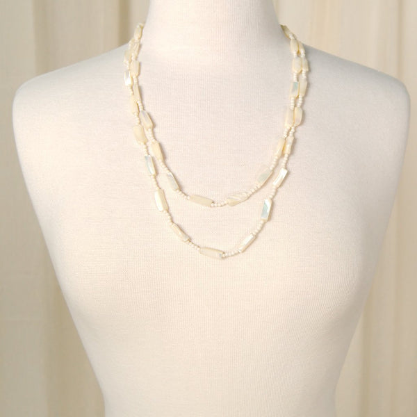 Long Pearl Shell Necklace