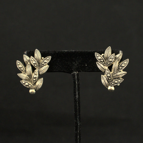 Marcasite Leaf Jewelry Set