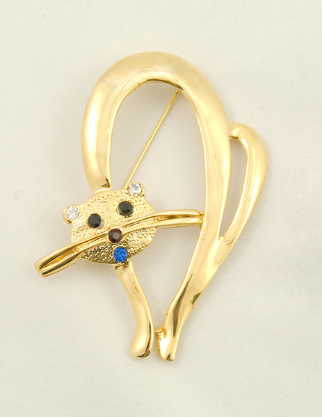 Cats Like Us Mid Century Cat Brooch Pin for sale at Cats Like Us - 1