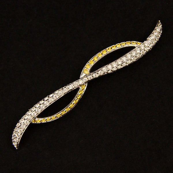 Modernist Swarovski Brooch by Cats Like Us : Cats Like Us