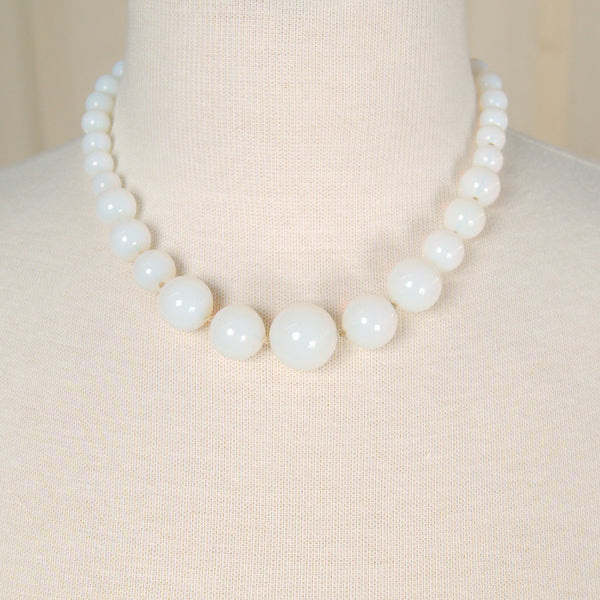 Moonstone Bead Necklace