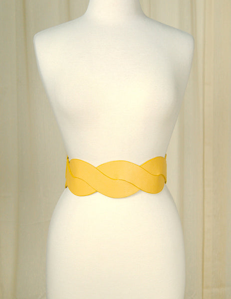 Mustard Swirl Cinch Belt
