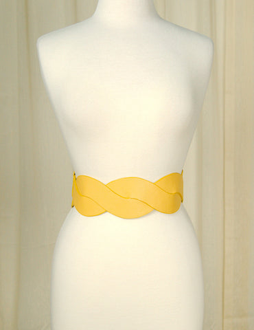 Mustard Swirl Cinch Belt - Cats Like Us