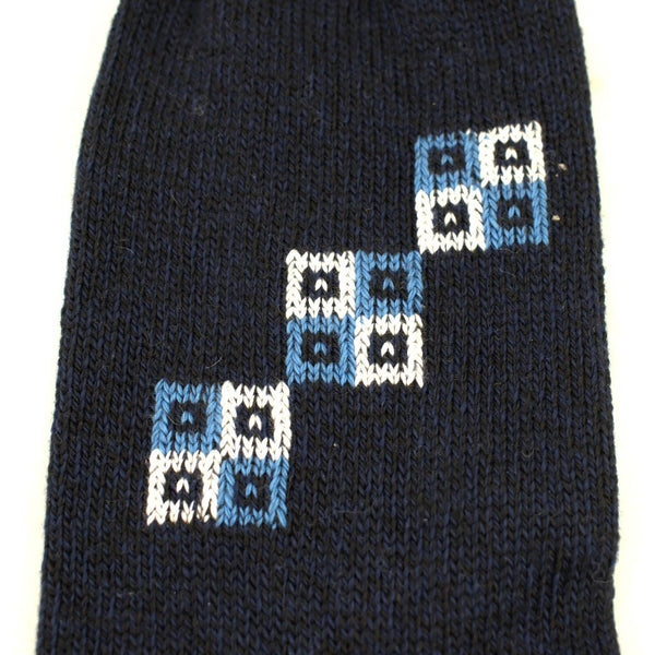 Navy Blue Squares Socks - Cats Like Us