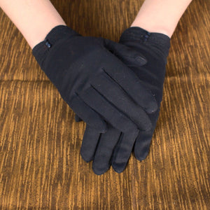 Navy Blue Tiny Button Gloves - Cats Like Us