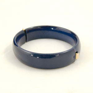 Navy Hinge Bangle Bracelet
