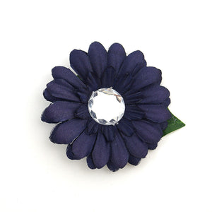 Navy Mini Bling Daisy Flower by Cats Like Us : Cats Like Us