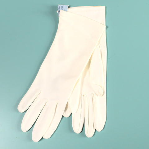 NOS Off White Vintage Gloves