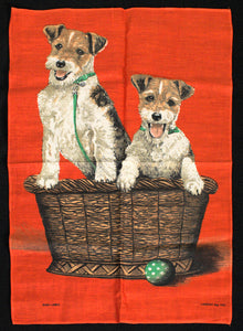 NWOT Playful Terriers Tea Towel