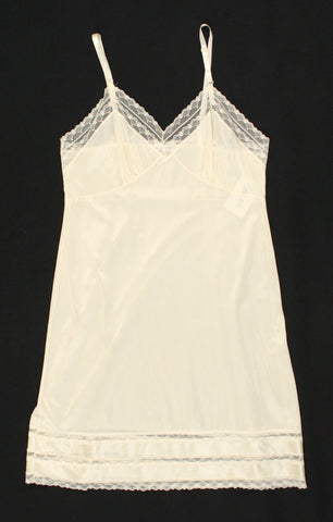 Off White Lace Bust Vintage Full Slip