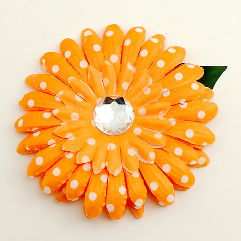 Orange Dot Daisy Hair Flower by Cats Like Us