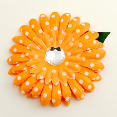 Orange Dot Daisy Hair Flower