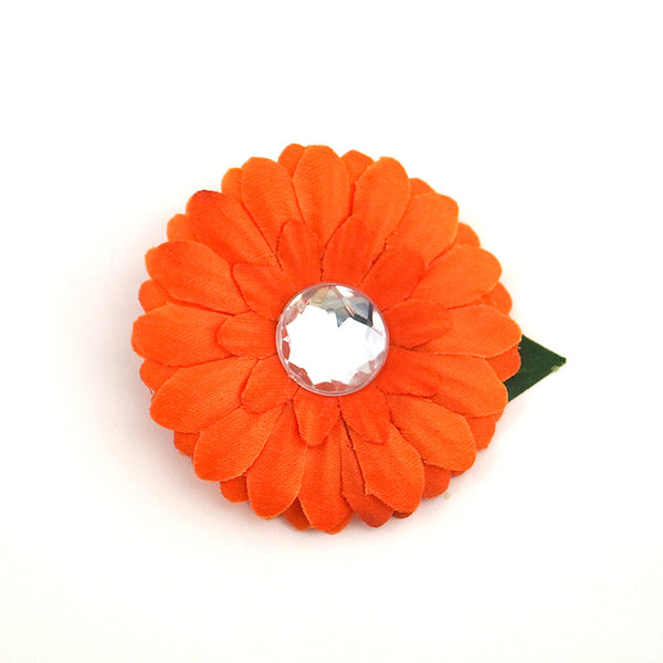 Orange Mini Bling Daisy Flower