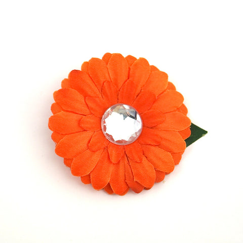 Orange Mini Bling Daisy Flower by Cats Like Us : Cats Like Us
