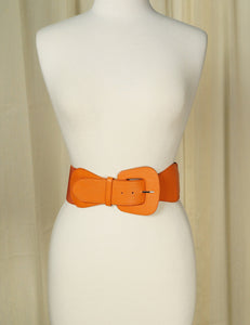 Orange Pinup Cinch Belt - Cats Like Us