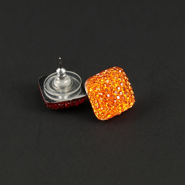 Cats Like Us Orange Sparkle Earrings for sale at Cats Like Us - 2