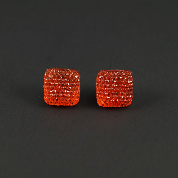 Orange Sparkle Earrings - Cats Like Us