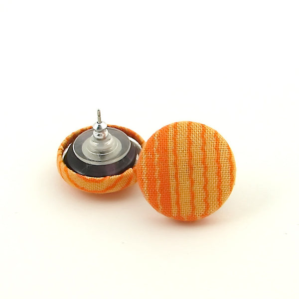 Cats Like Us Orange Wiggle Stripe Earrings for sale at Cats Like Us - 2