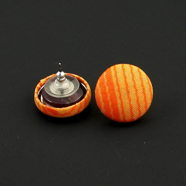 Cats Like Us Orange Wiggle Stripe Earrings for sale at Cats Like Us - 4
