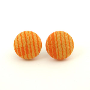 Orange Wiggle Stripe Earrings - Cats Like Us
