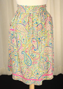 Paisley Print Floral Apron - Cats Like Us