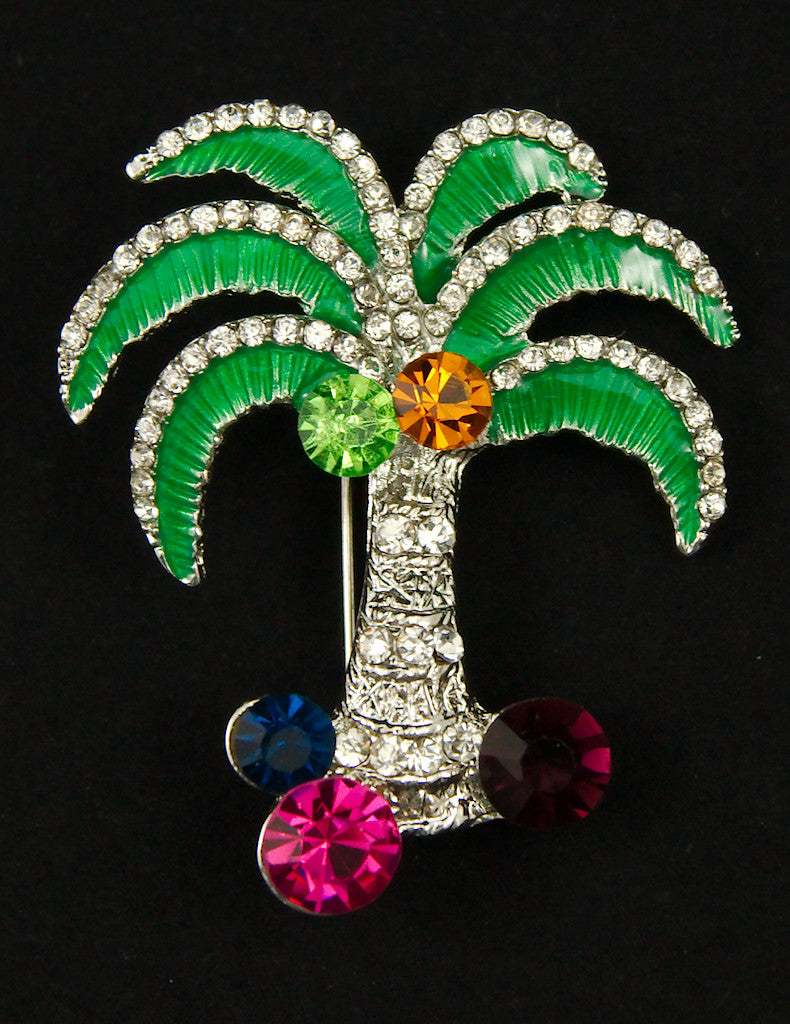 Cats Like Us Palm Tree Brooch Pin for sale at Cats Like Us - 1