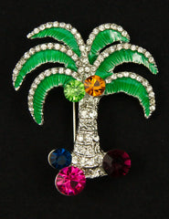 Palm Tree Brooch Pin