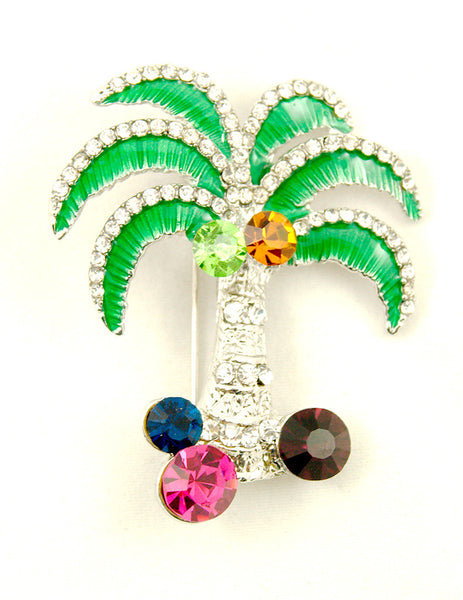 Cats Like Us Palm Tree Brooch Pin for sale at Cats Like Us - 2